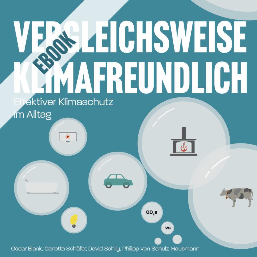 Cover des eBooks Vergleichsweise Klimafreundlich - Das eBook über effektiven Klimaschutz im Alltag