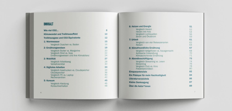 Inhaltsverzeichnis von dem Buch Vergleichsweise Klimafreundlich